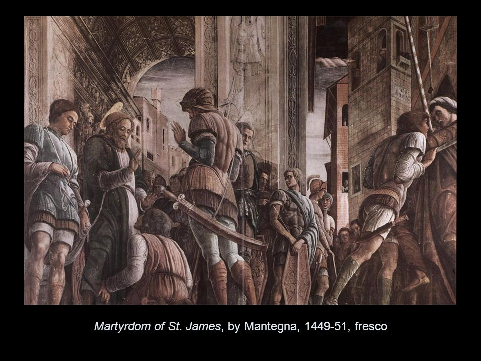 The Resurrection Martyrdom of St. James, by Mantegna, , fresco