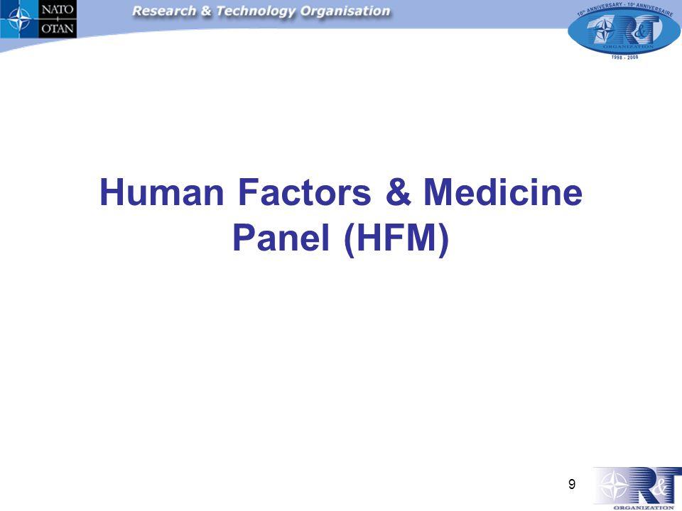 9 Human Factors & Medicine Panel (HFM)