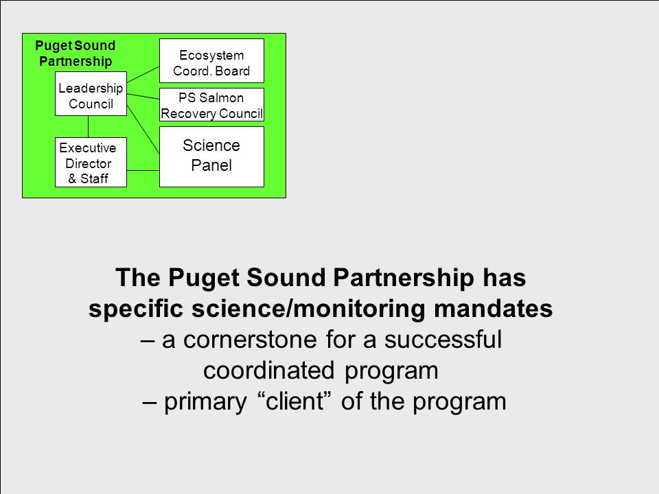Control of Toxic Chemicals in Puget Sound Phase I 6 Leadership Council Ecosystem Coord.