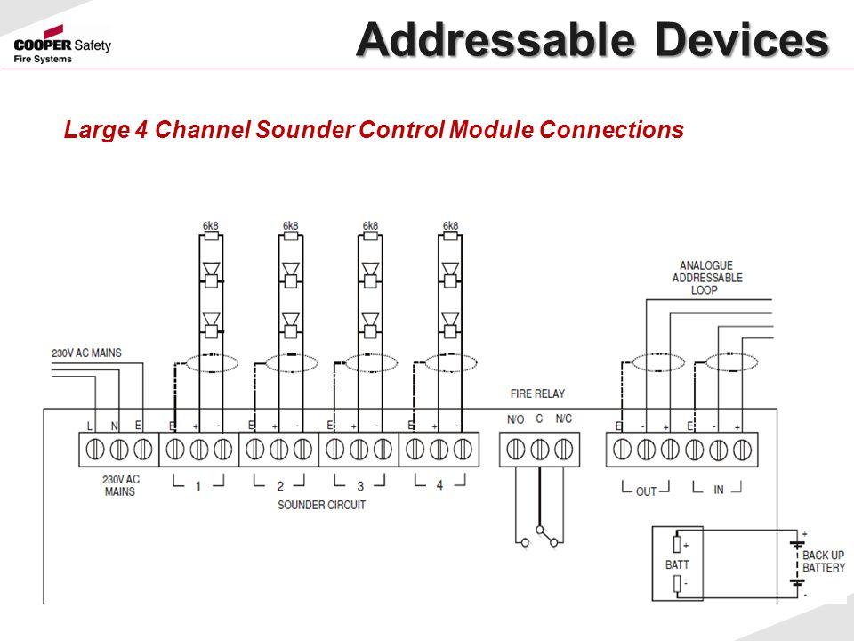 Large 4 Channel Sounder Control Module Connections Addressable Devices