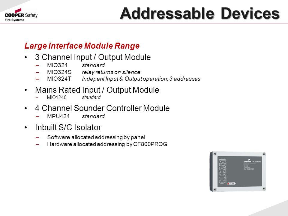 Large Interface Module Range 3 Channel Input / Output Module –MIO324standard –MIO324Srelay returns on silence –MIO324TIndepent Input & Output operatio