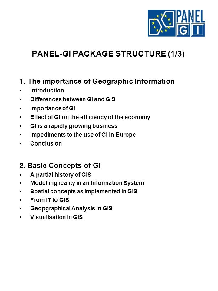 PANEL-GI PACKAGE STRUCTURE (1/3) 1.