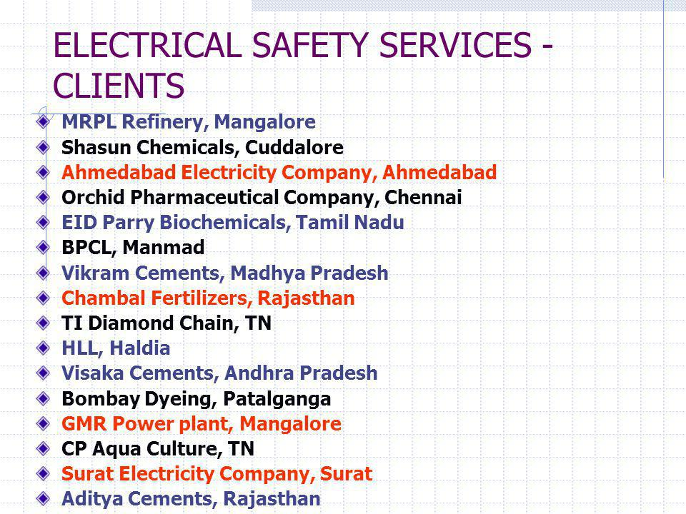 Innovative Electrical Safety Products