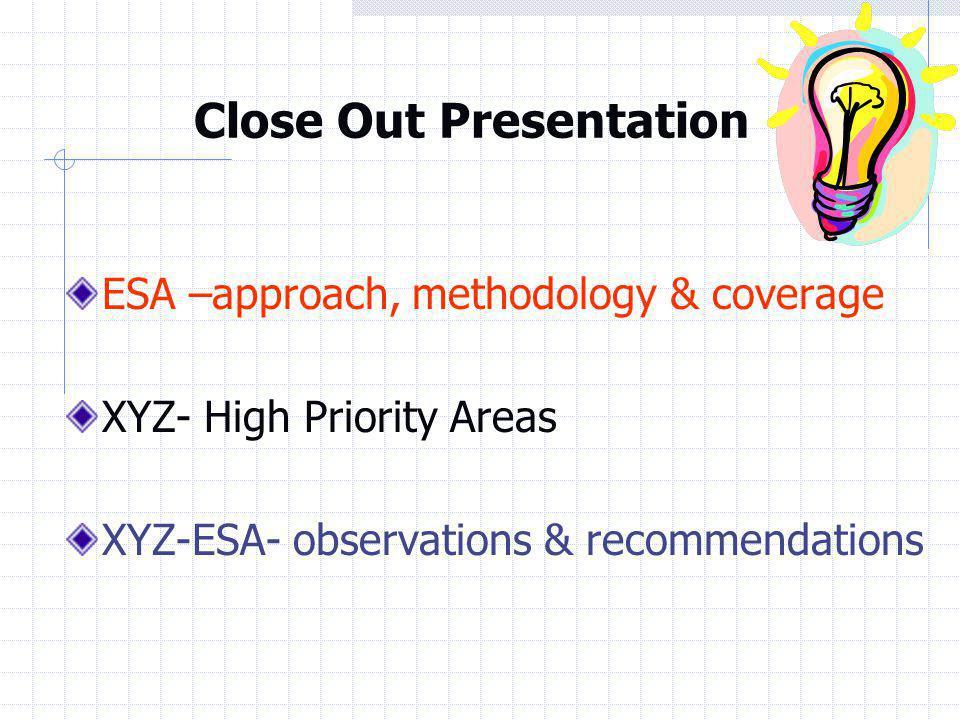 ESA – Scope, Methodology & Coverage