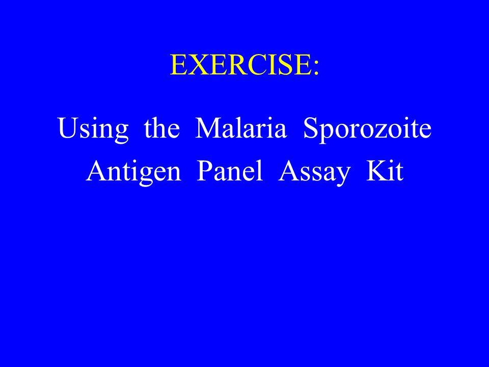 EXERCISE: Using the Malaria Sporozoite Antigen Panel Assay Kit