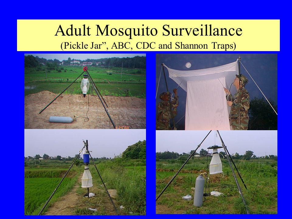 Adult Mosquito Surveillance (Pickle Jar, ABC, CDC and Shannon Traps)