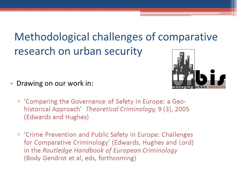 How do Europeans talk to each other about urban security.