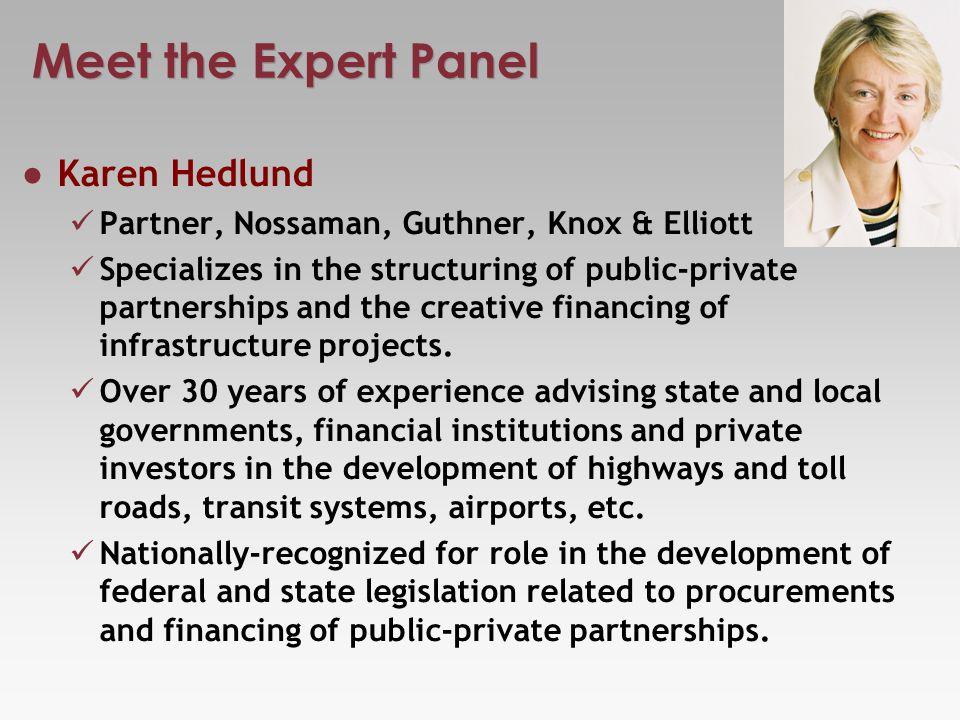 Meet the Expert Panel Dr.Ronald F.