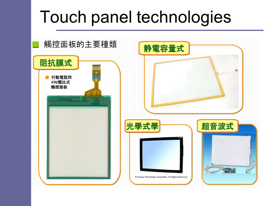 Touch panel technologies