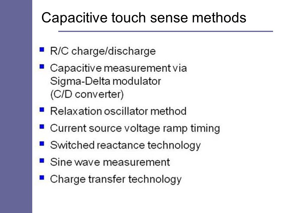 Capacitive touch sense methods