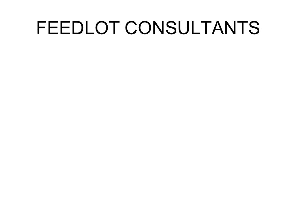 FEEDLOT CONSULTANTS
