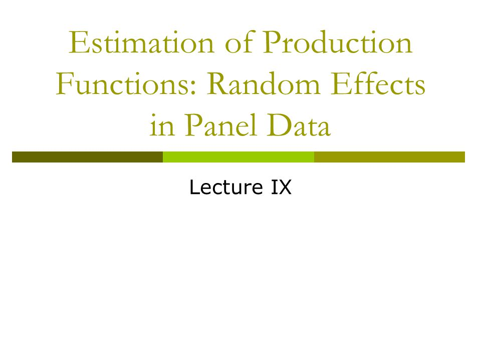 Fall 2005Lecture IX12 A procedure for estimation