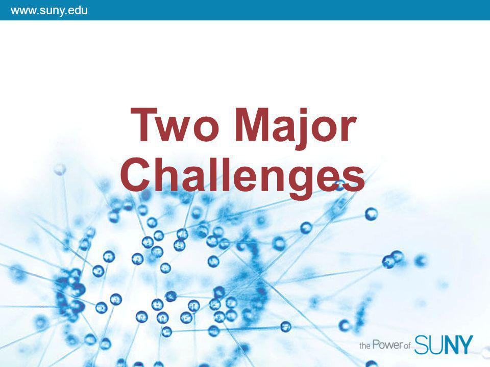 www.suny.edu Two Major Challenges