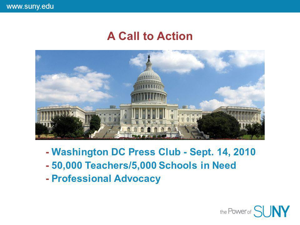 www.suny.edu A Call to Action - Washington DC Press Club - Sept.