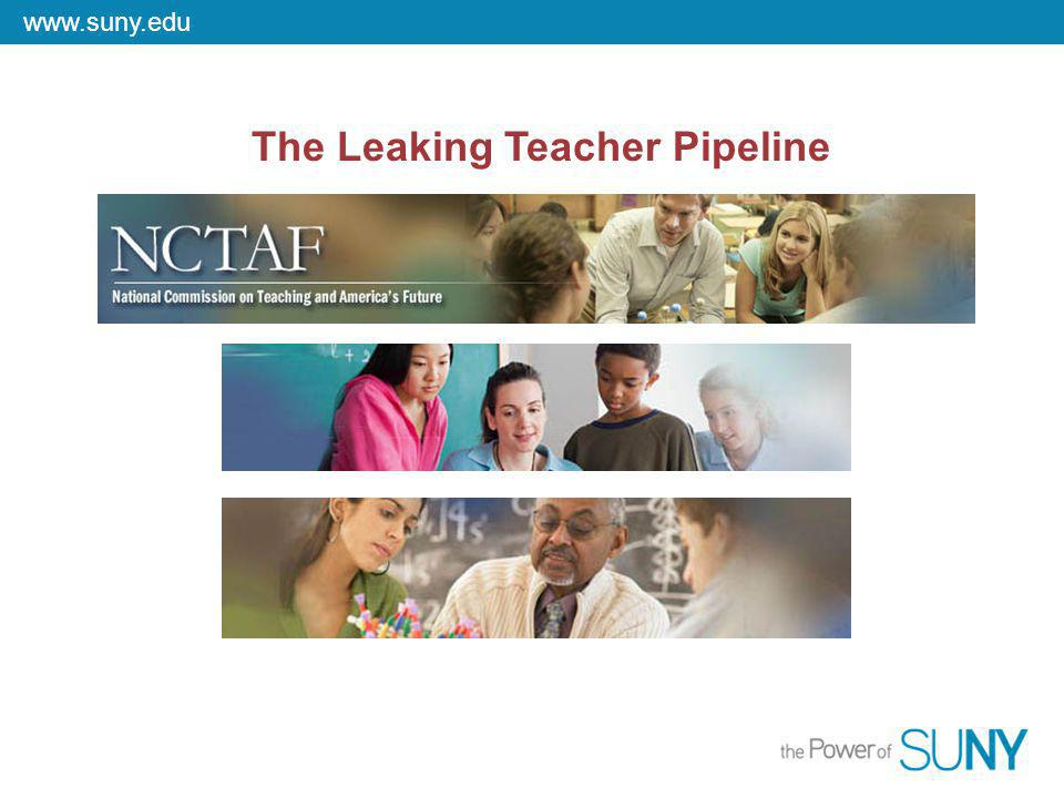 www.suny.edu The Leaking Teacher Pipeline
