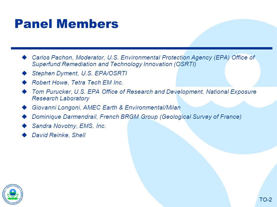TO-2 Panel Members Carlos Pachon, Moderator, U.S.