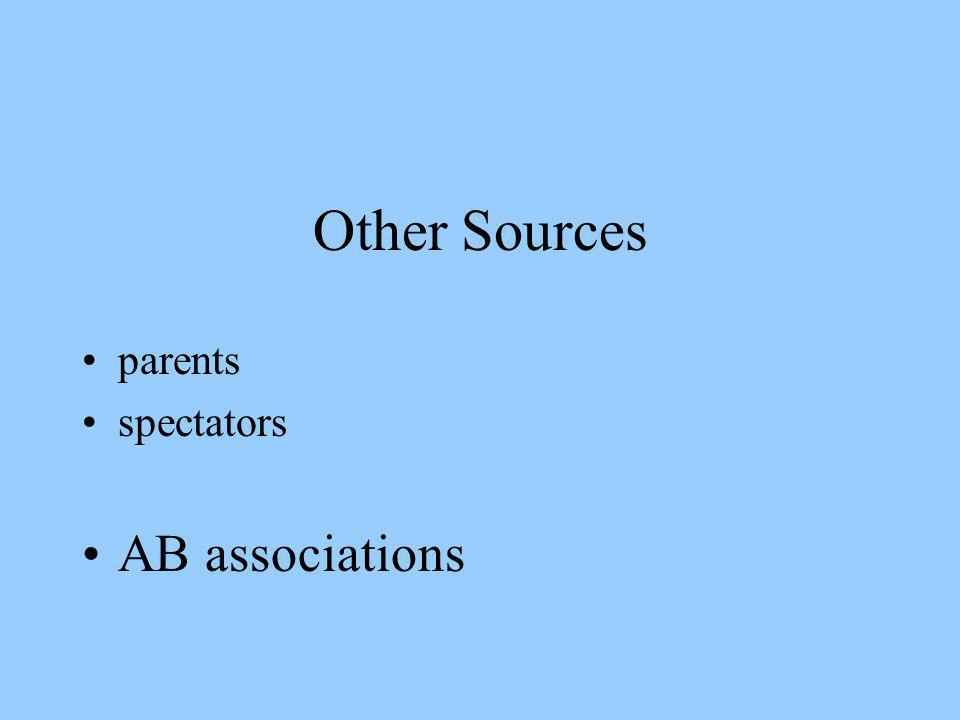 Other Sources parents spectators AB associations