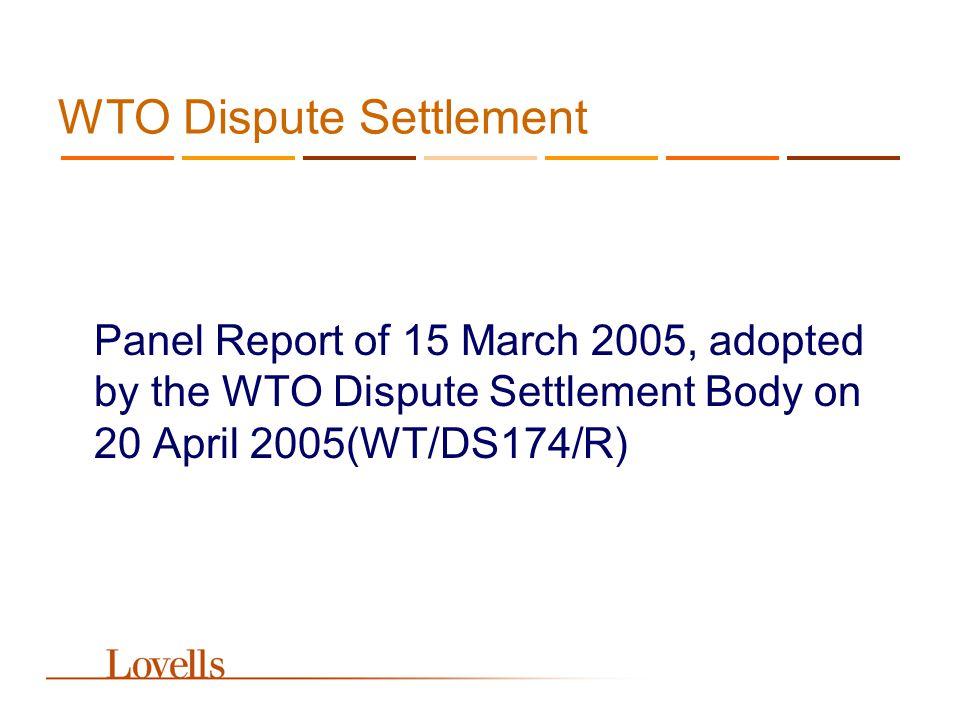 The Panel Report The Trademark Claim EC Reg.