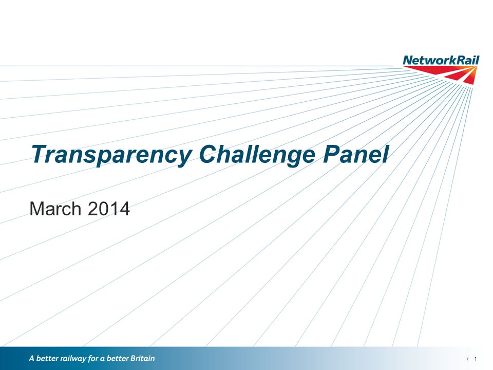 /1 Transparency Challenge Panel March 2014