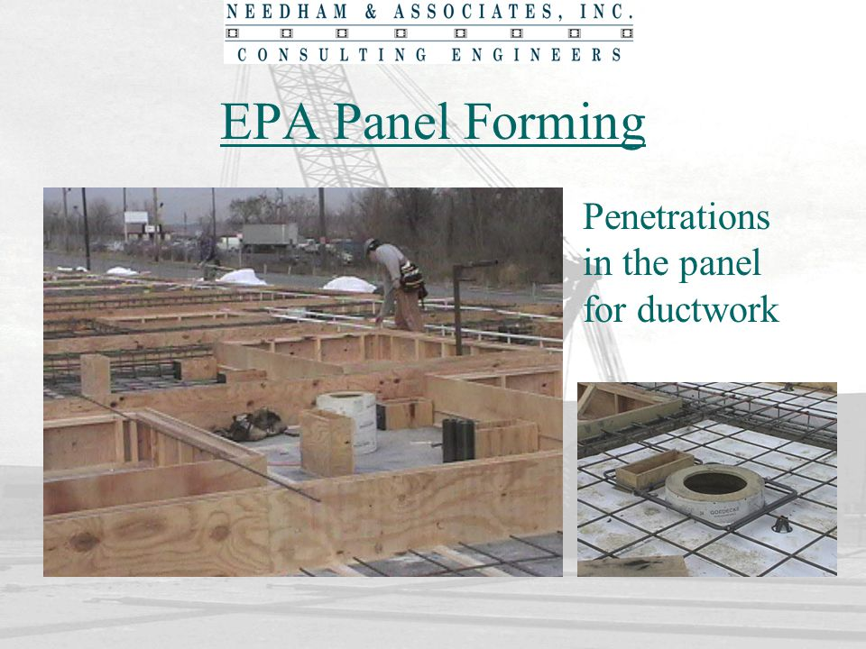 EPA Panel Forming Penetrations in the panel for ductwork