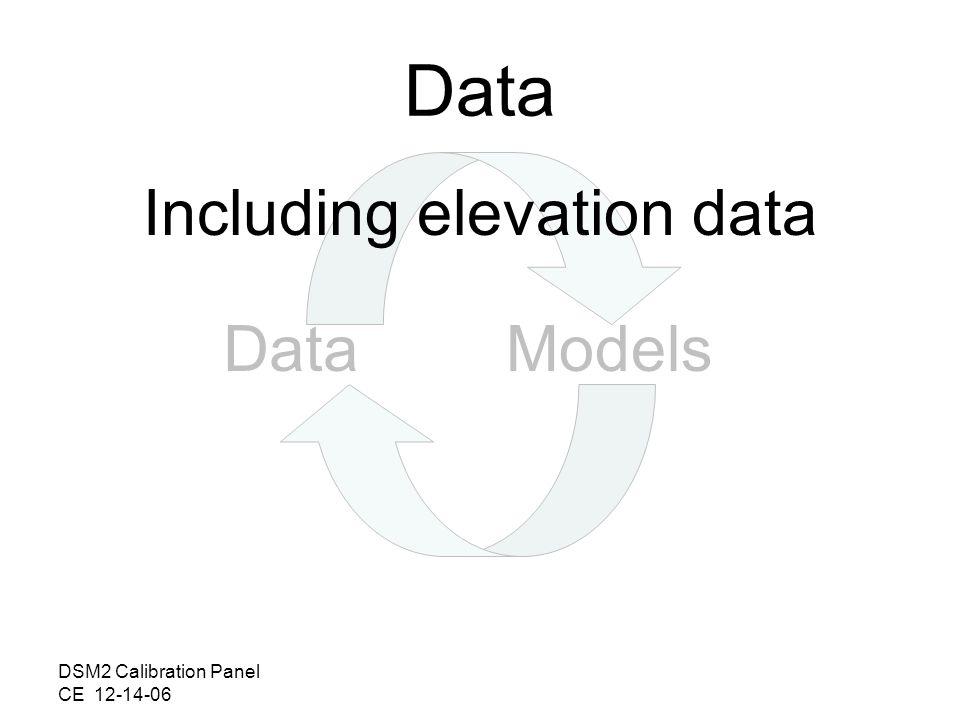 DSM2 Calibration Panel CE 12-14-06 DataModels Data Including elevation data