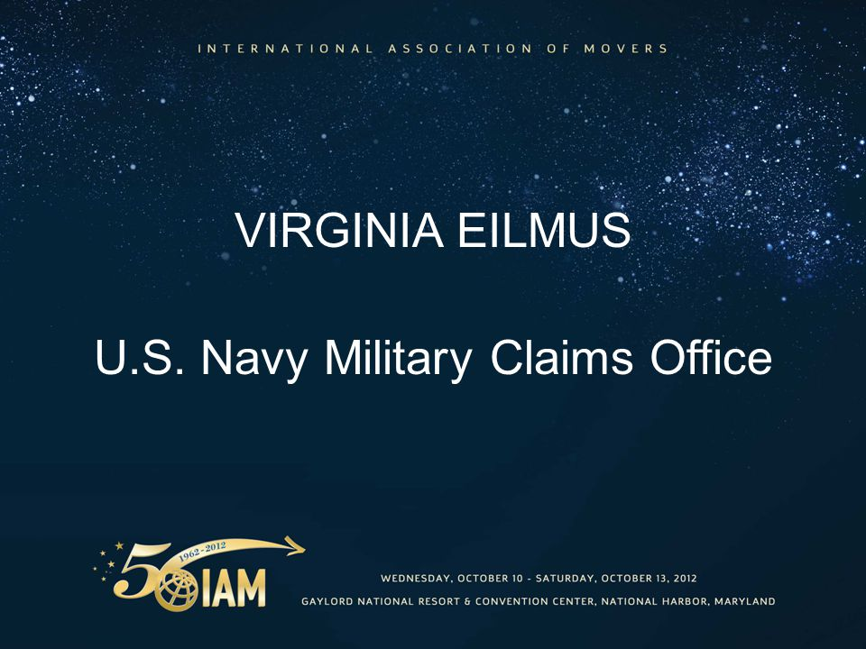 VIRGINIA EILMUS U.S. Navy Military Claims Office