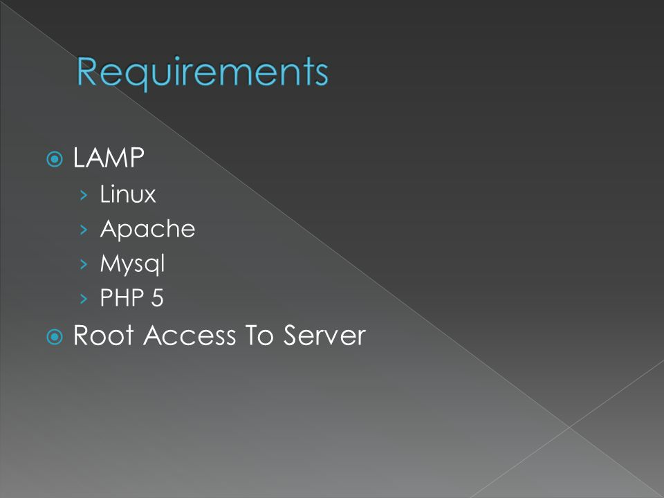 LAMP Linux Apache Mysql PHP 5 Root Access To Server