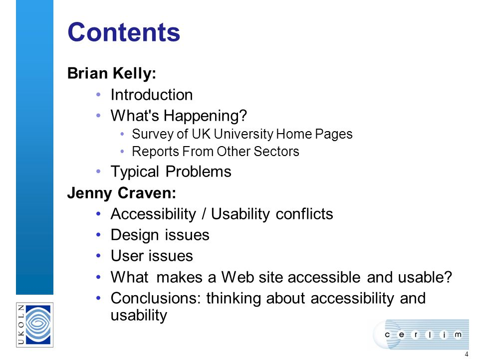 4 Contents Brian Kelly: Introduction What s Happening.