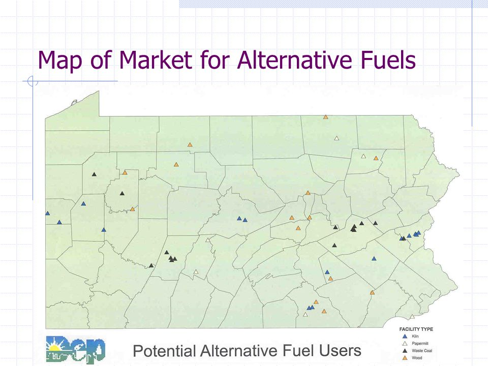 Map of Market for Alternative Fuels
