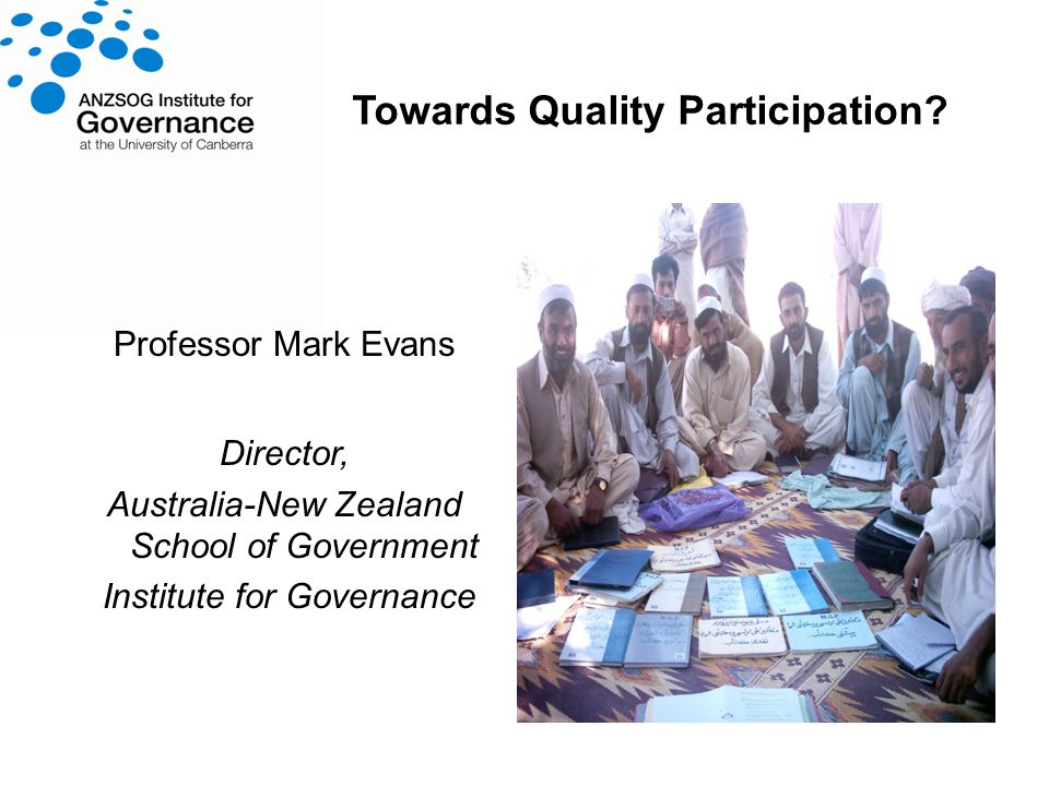Towards Quality Participation.