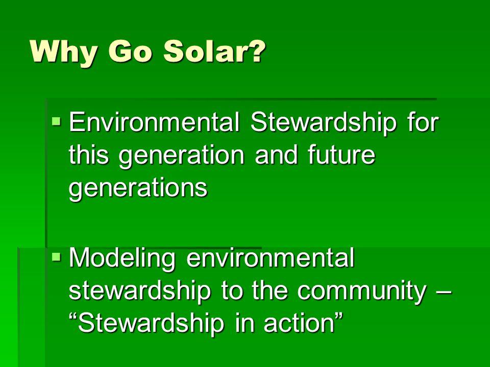 Why Go Solar.