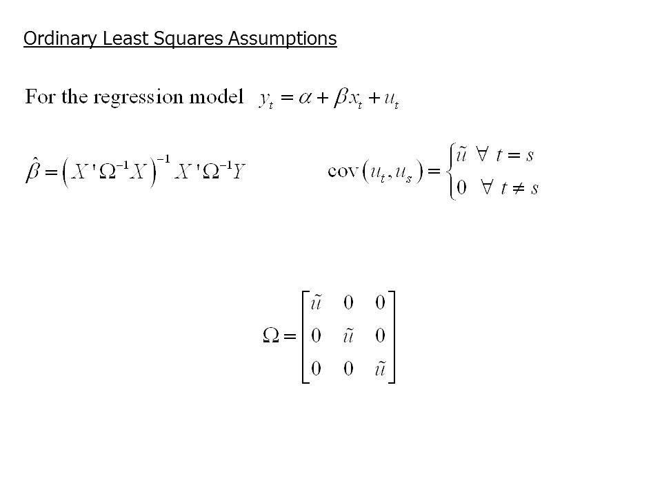 Ordinary Least Squares Assumptions