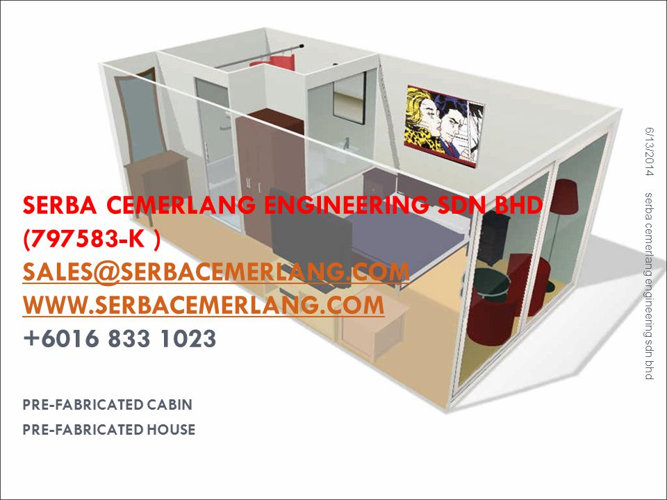 ACCOMMODATION CABIN 6/13/2014 serba cemerlang engineering sdn bhd