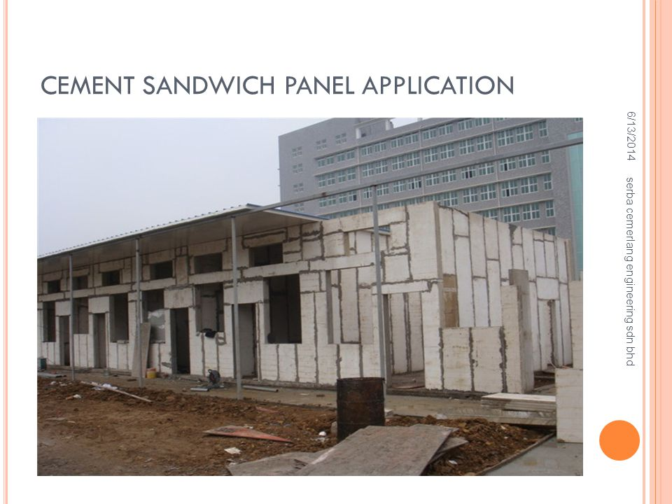 CEMENT SANDWICH PANEL APPLICATION 6/13/2014 serba cemerlang engineering sdn bhd