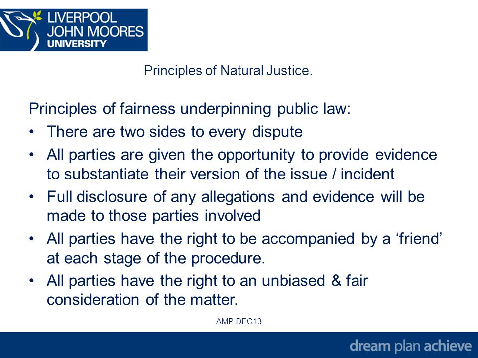 Principles of Natural Justice.