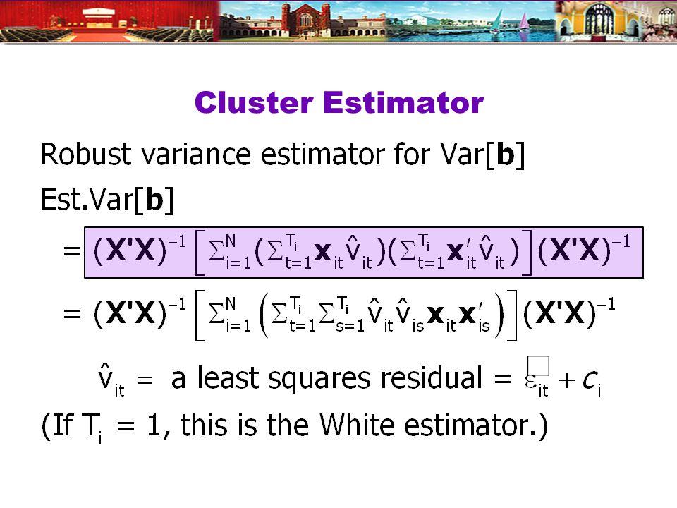 Cluster Estimator