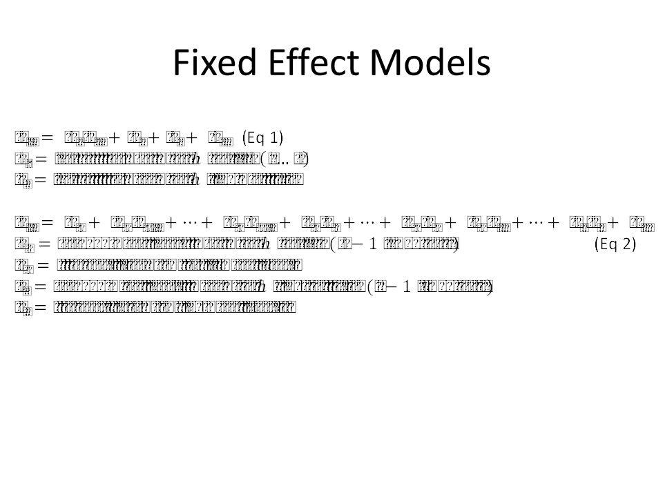 Fixed Effect Models