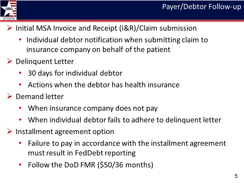 FedDebt/Cross-Servicing Process 6 Debt validation MTF UBO must ensure that public delinquent debt is valid prior to reporting to FedDebt UBO debt validation checklist FedDebt Collections Efforts Public Collection Agencies Credit Bureau Reporting FedDebt Reports FedDebt Creditor Agency (CA) Financial Supervisor View – Financials Adhoc Financial Activity Detail Report – PA & Debt Res Return to Agency (RTA) Report Proof of Debt (POD) Report Disputes Report