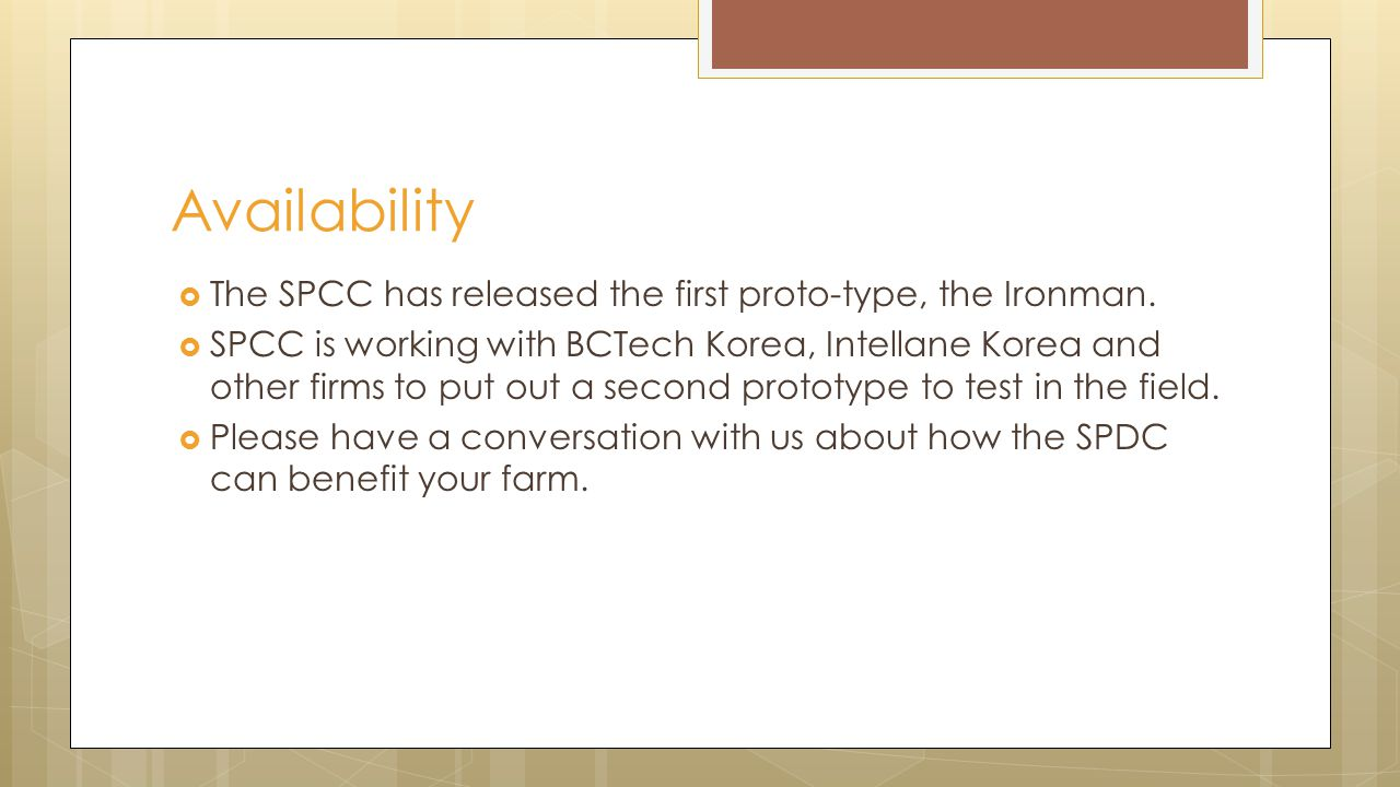 The SPCC has released the first proto-type, the Ironman.