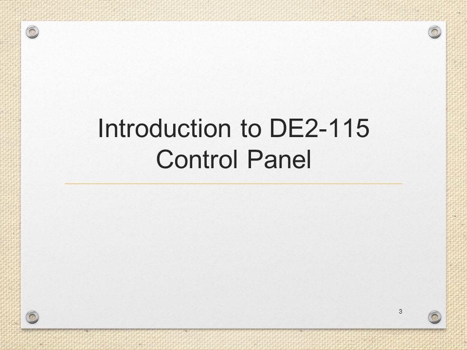 Introduction to DE2-115 Control Panel 3