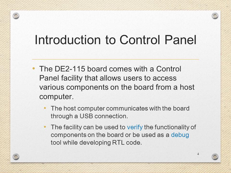 Control Panel Setup 5