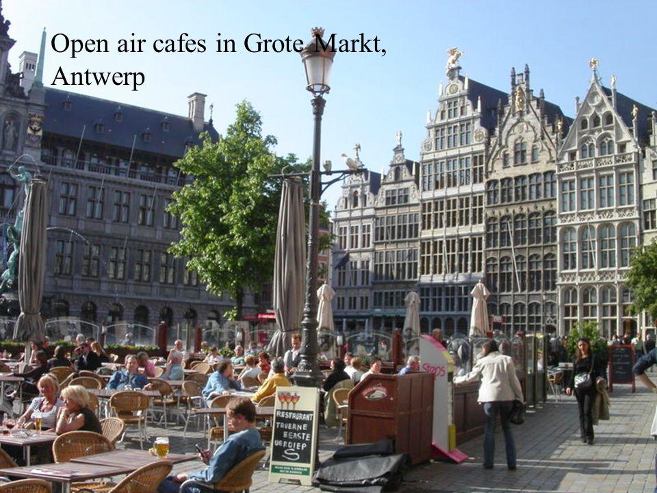 Open air cafes in Grote Markt, Antwerp