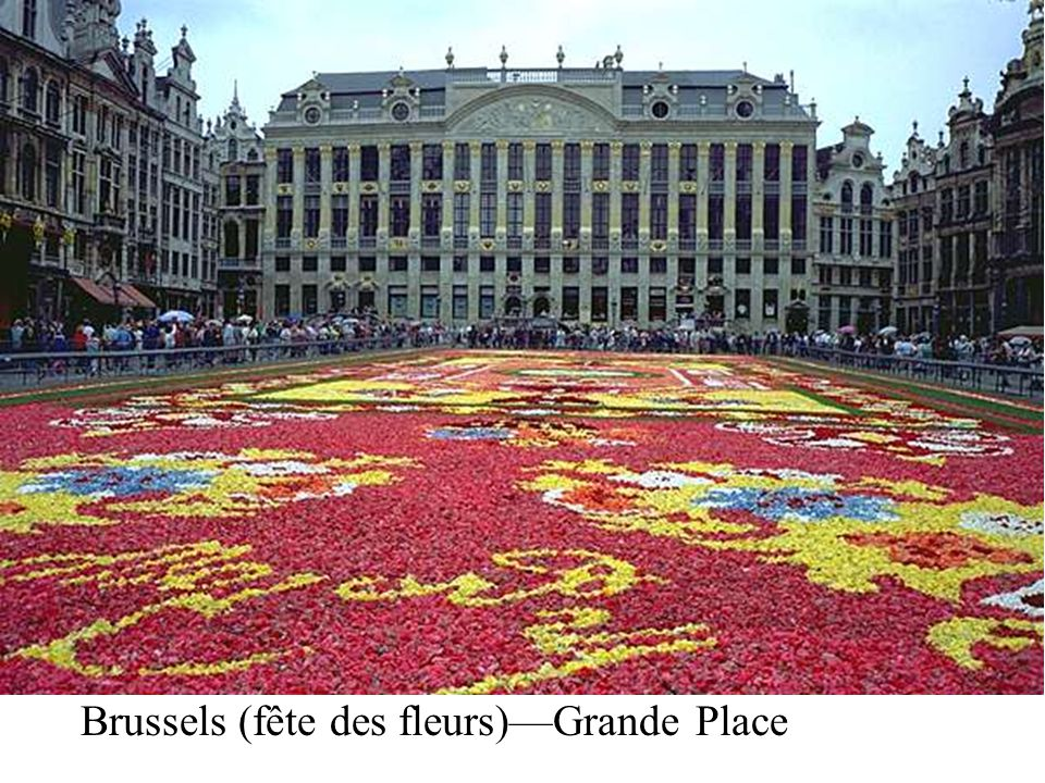 Brussels (fête des fleurs)Grande Place