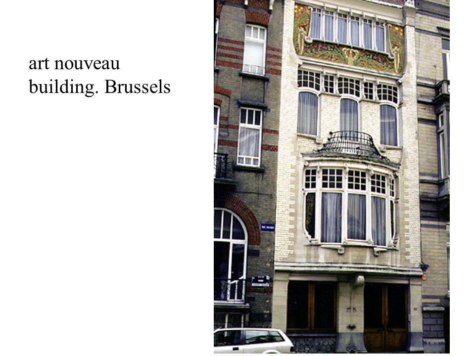 art nouveau building. Brussels