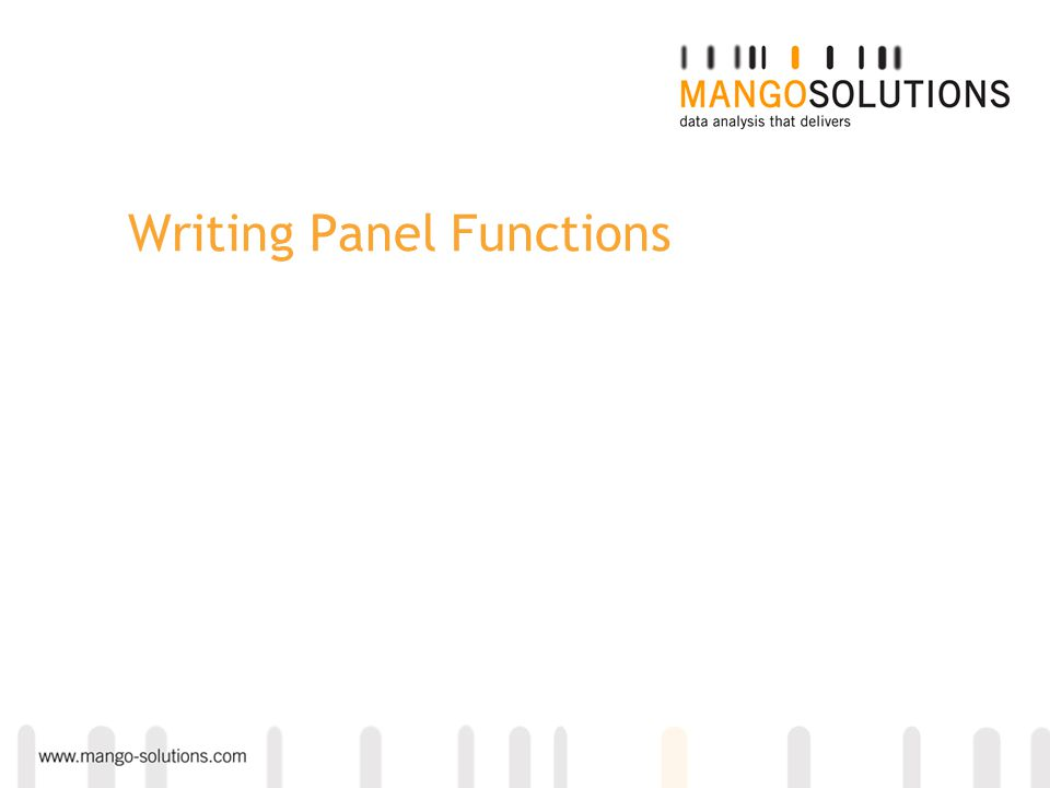 Writing Panel Functions