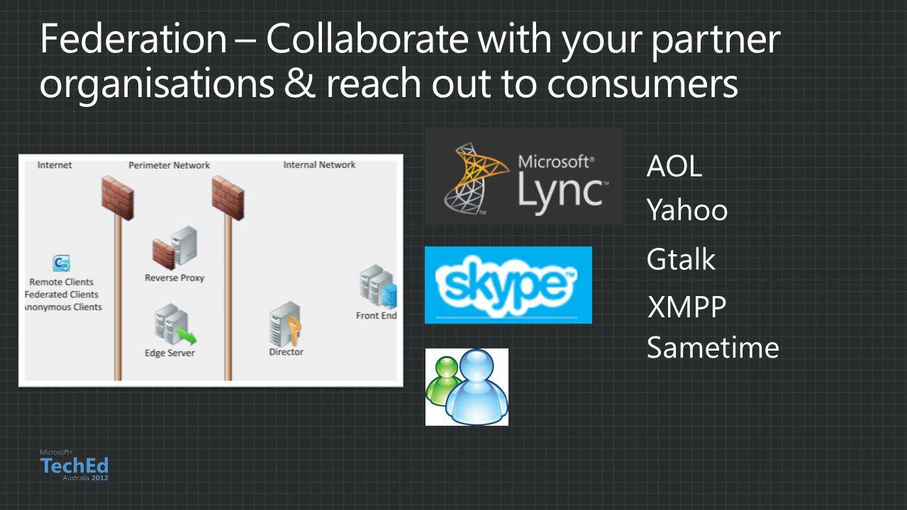 Yahoo AOL Gtalk Sametime XMPP