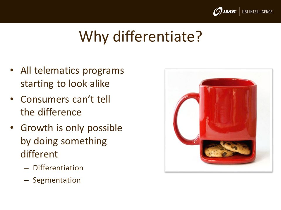 Why differentiate.