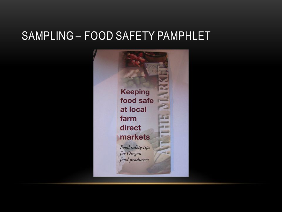 SAMPLING – FOOD SAFETY PAMPHLET