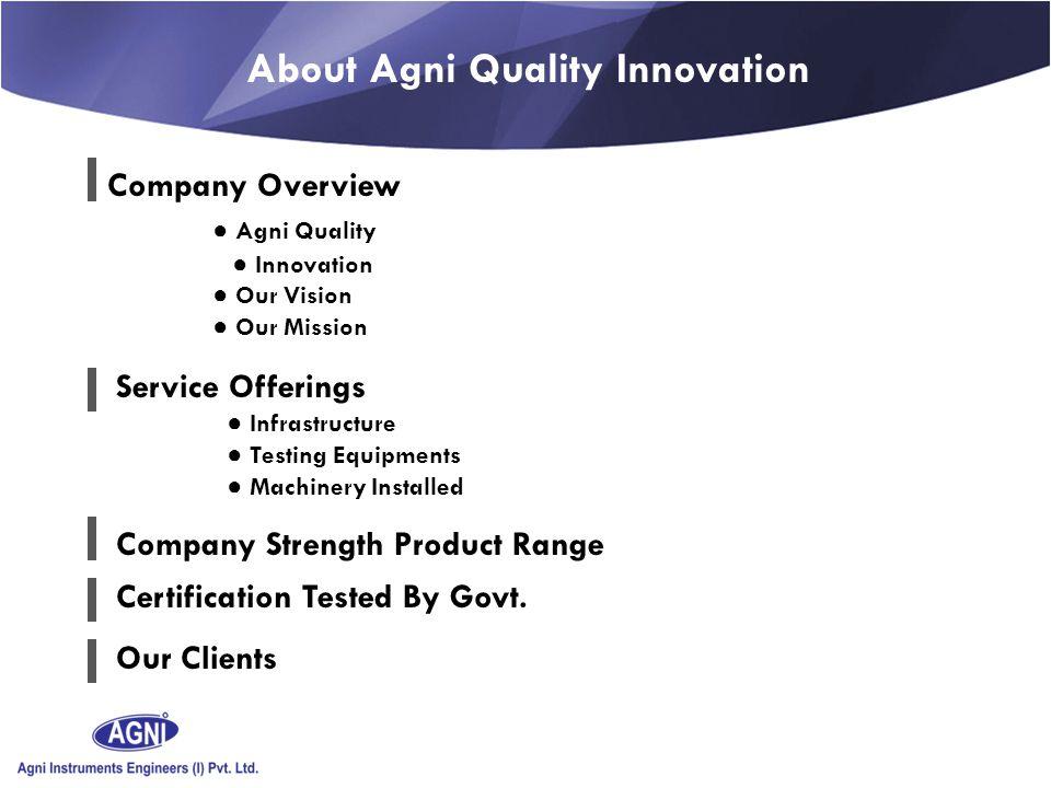 T Agni Instruments Engineers (I) Pvt. Ltd.