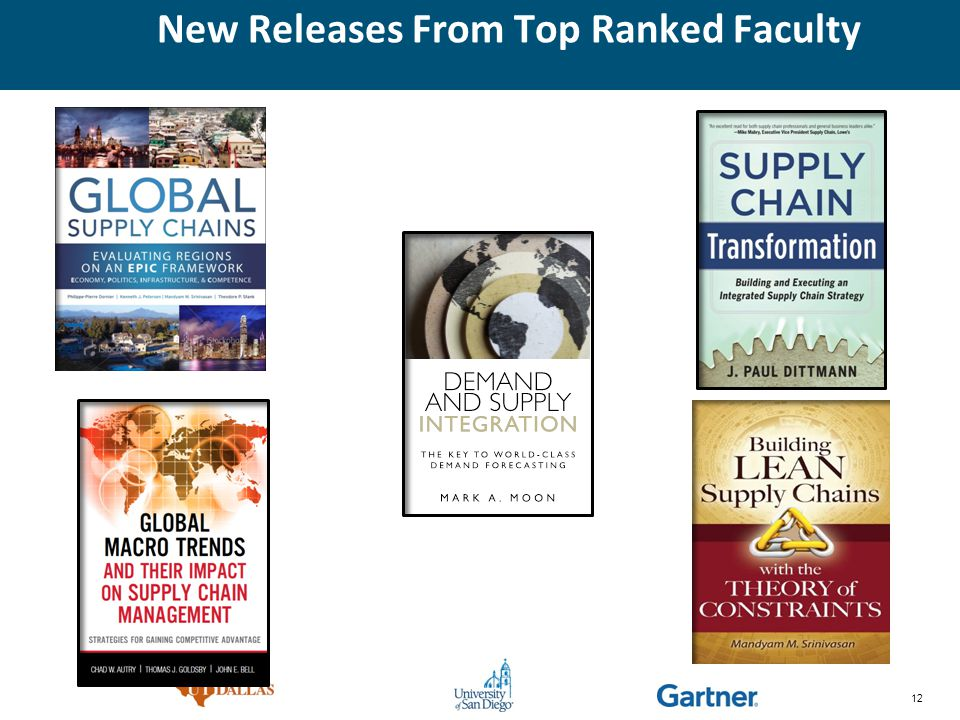 12 New Releases From Top Ranked Faculty